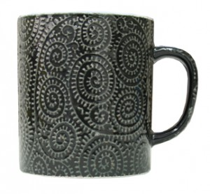 白盛たこ唐草を転写したマグカップ
