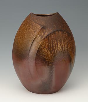 伊勢﨑 創「備前扁壺」高さ43cm、31×34.5cm