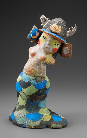 「サムライ・マーメイド」高さ42cm、26×18cm