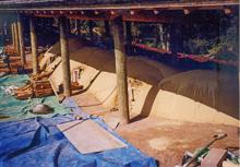 ⑪ 再現された胴木間1と焼成室3による登窯